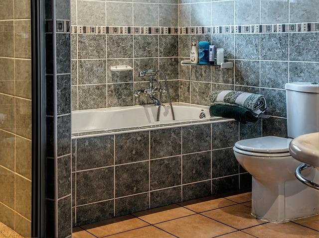 banheira de azulejo