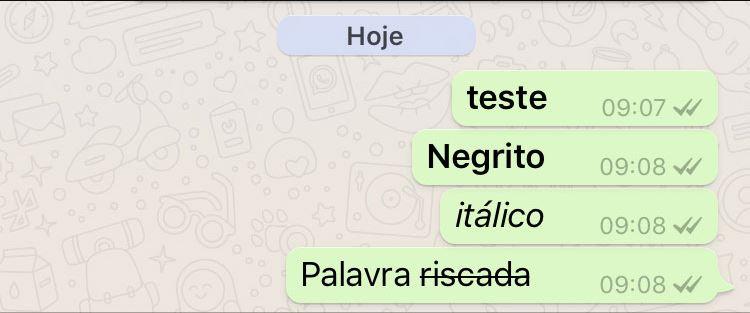 Como Deixar as Letras em Negrito no Whatsapp